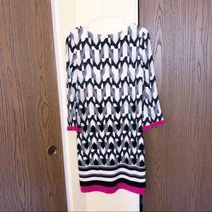 Joseph Ribkoff | Geometric Shift Dress | Size 10